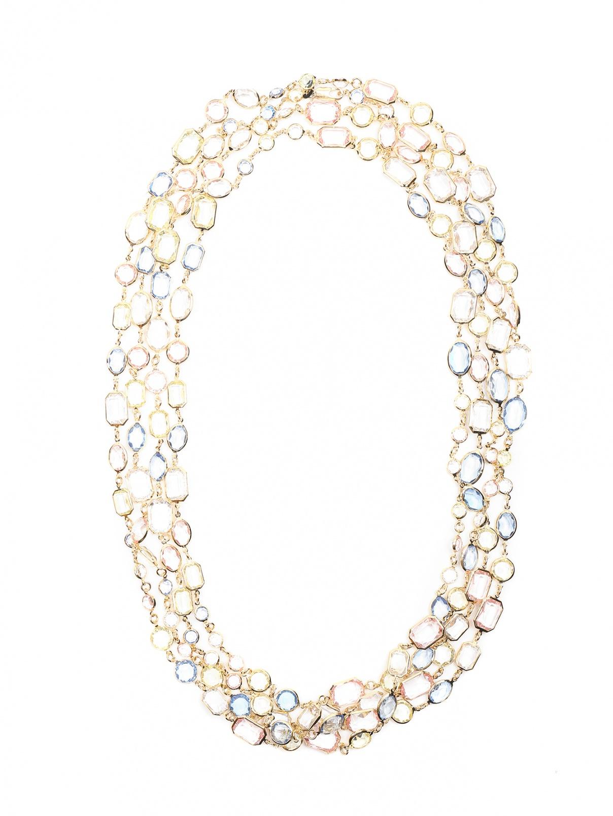 Ожерелье из металла с кристаллами Marina Rinaldi  –  Общий вид