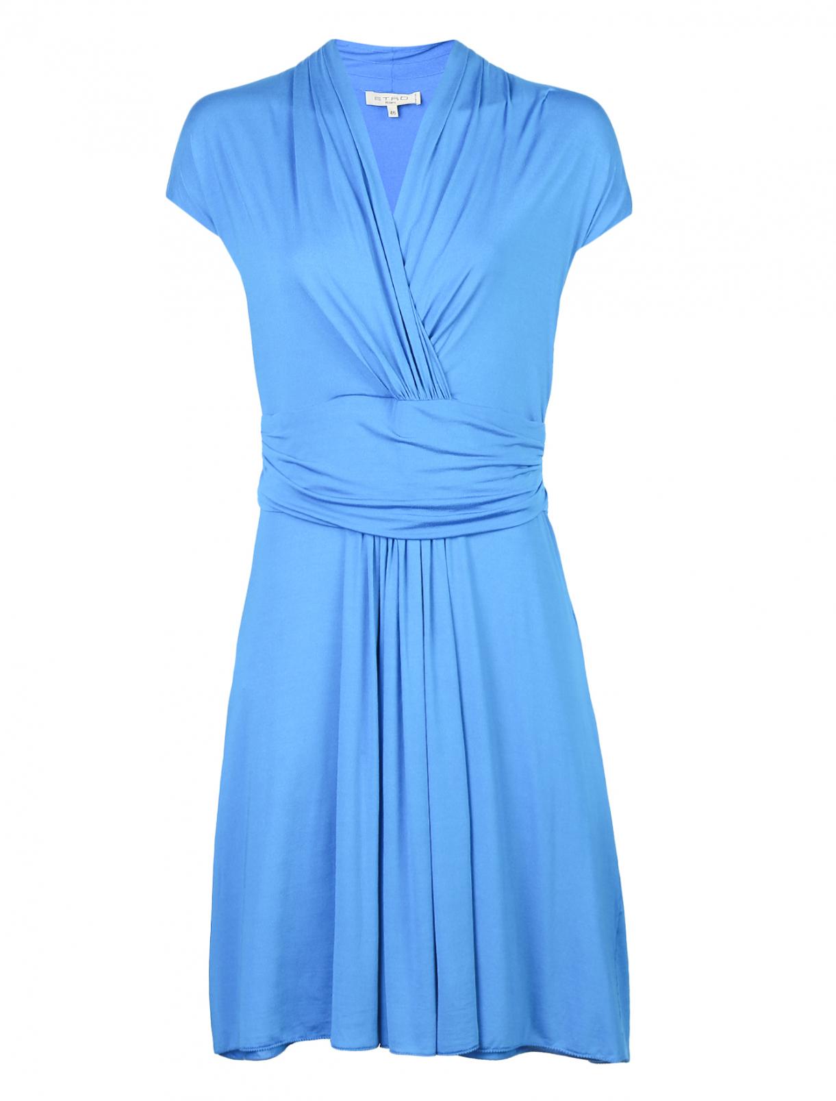 Трикотажное платье с запахом и драпировкой Etro  –  Общий вид