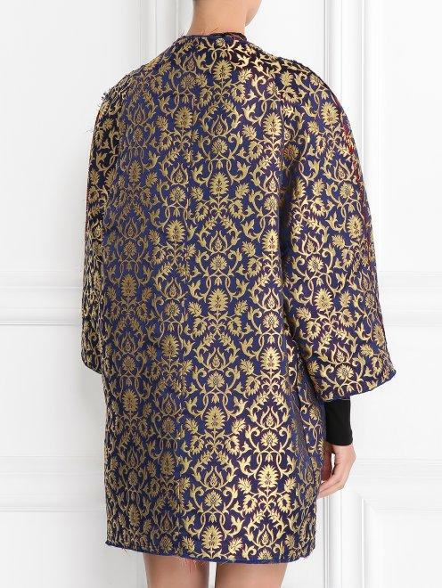 Легкое пальто с узором свободного кроя - Модель Верх-Низ1