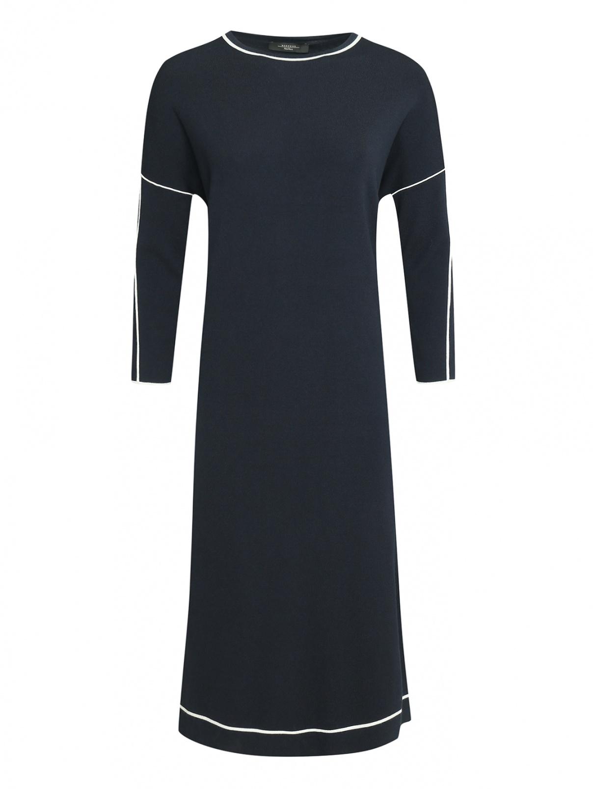 Платье трикотажное прямого кроя из вискозы Weekend Max Mara  –  Общий вид