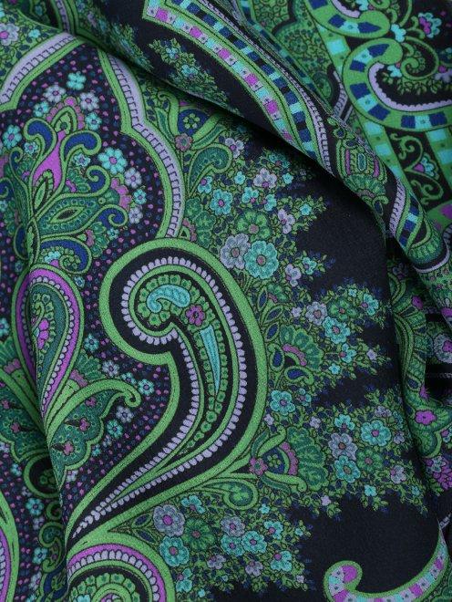 Платок из шелка, с узором Michele Binda - Деталь