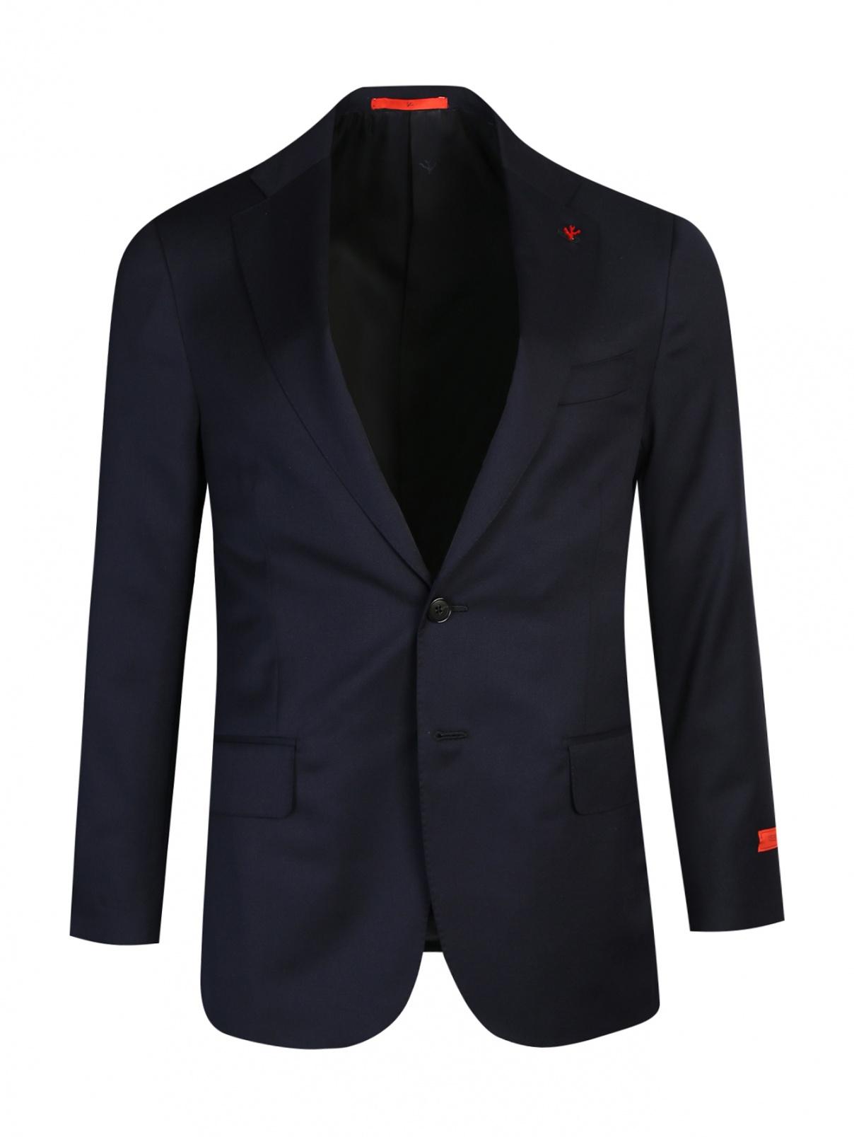 Пиджак однобортный из шерсти Isaia  –  Общий вид