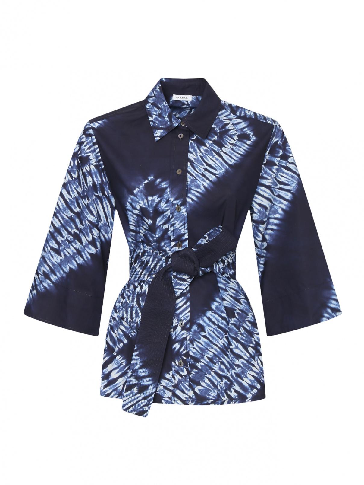 Рубашка из хлопка с поясом P.A.R.O.S.H.  –  Общий вид
