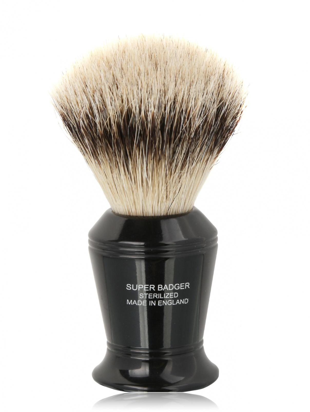 Кисть для бритья Эбонит с серебром 10 cм Truefitt & Hill  –  Общий вид