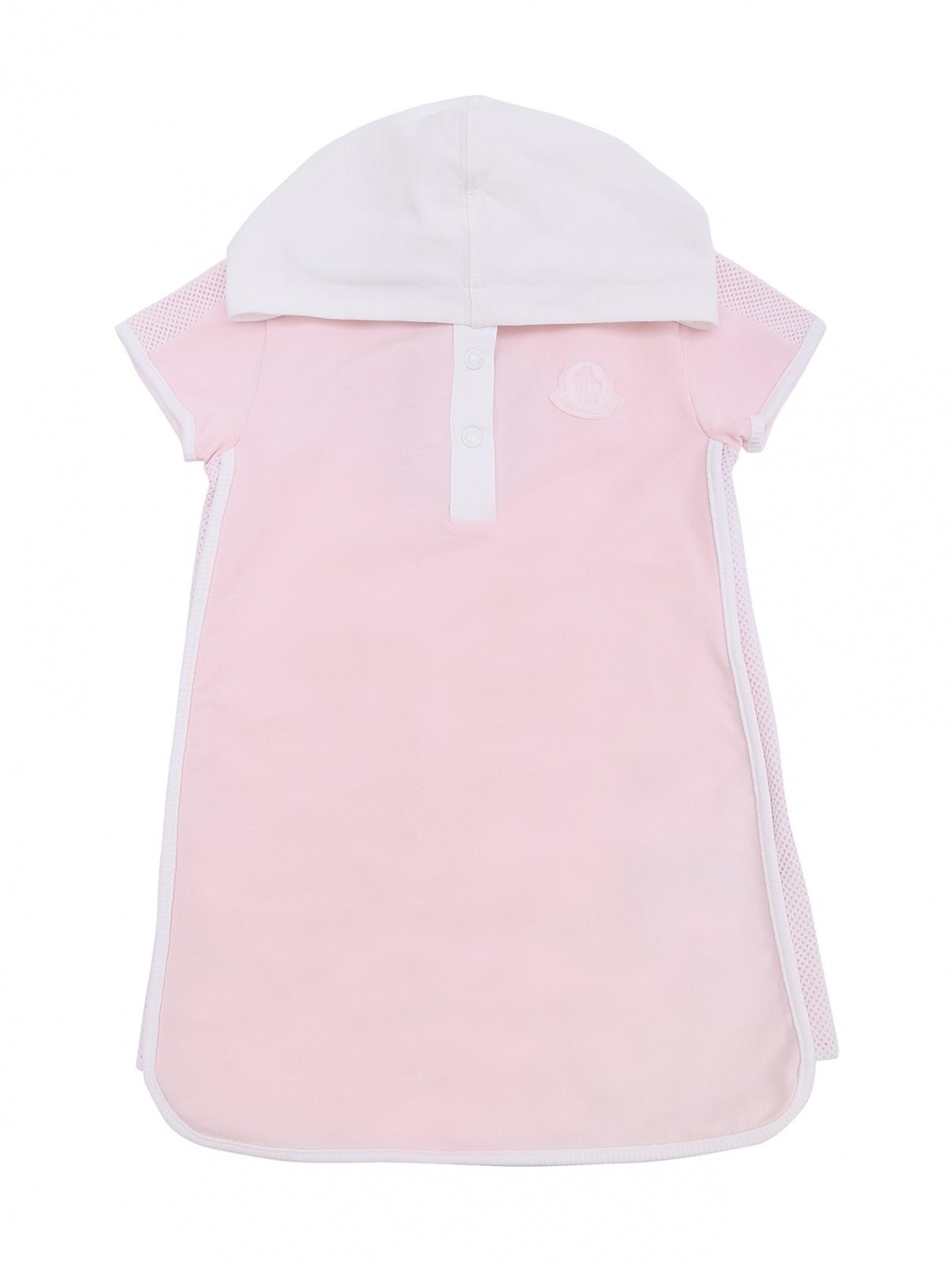 Платье-поло с капюшоном Moncler  –  Общий вид