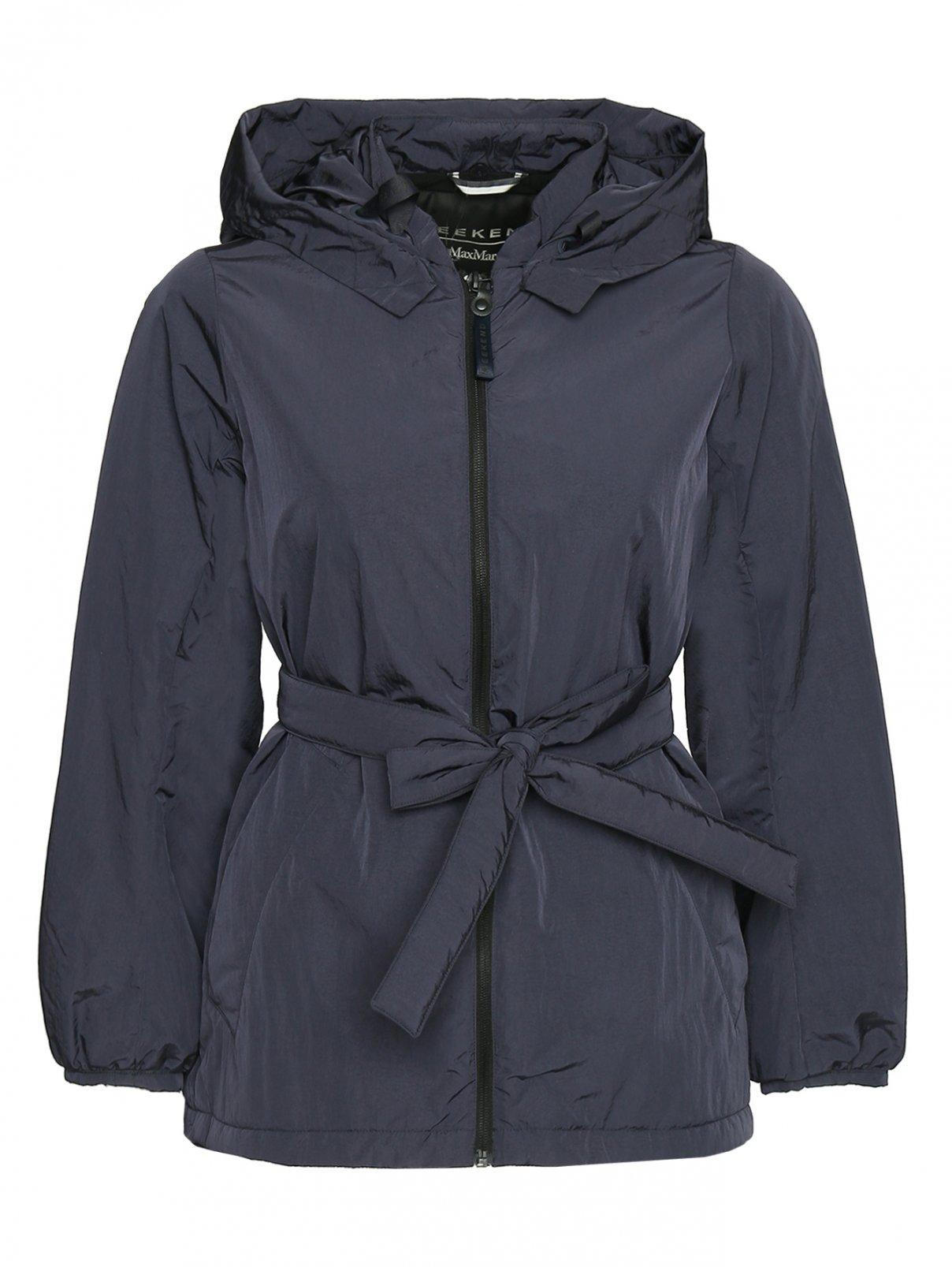 Куртка на молнии с капюшоном и поясом Weekend Max Mara  –  Общий вид