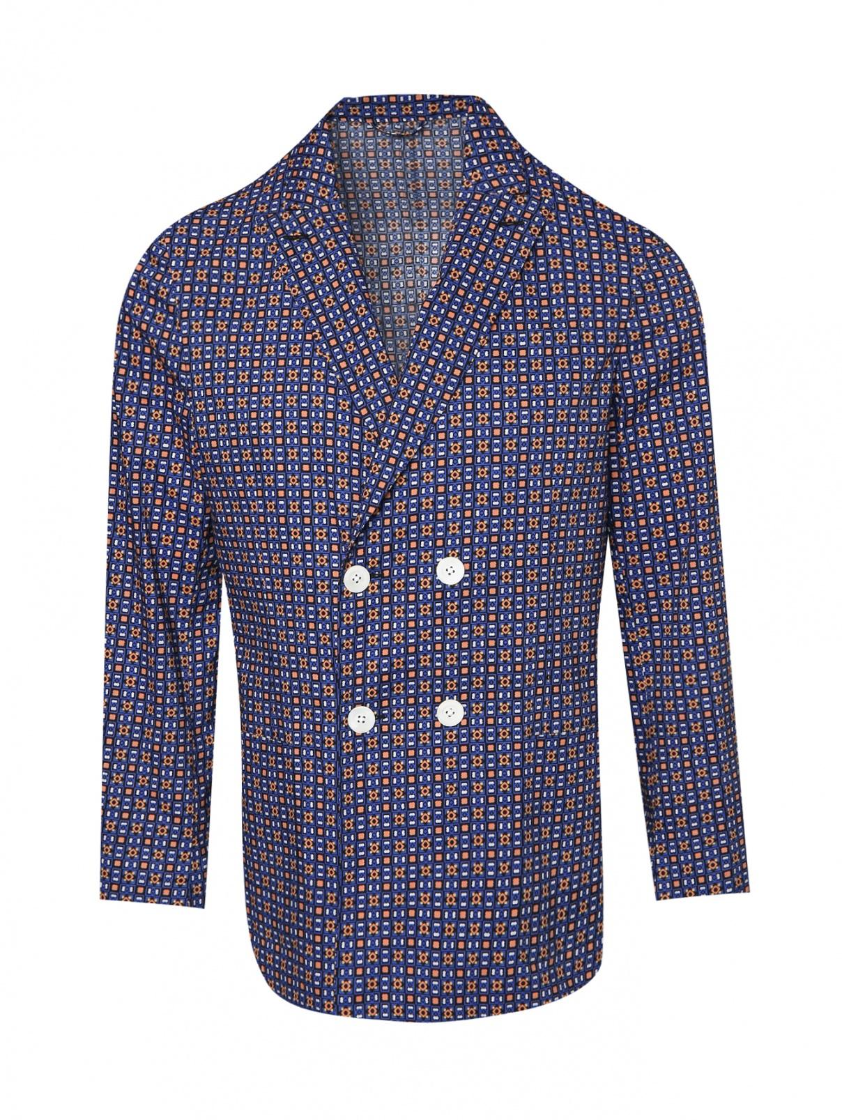 Пиджак из хлопка с узором Belvest  –  Общий вид