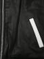 Бомбер кожаный с контрастными вставками MSGM  –  Деталь1