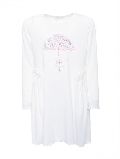 Сорочка из мягкого трикотажа с аппликацией Story Loris - Общий вид