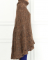 Трикотажное пончо из шерсти крупной вязки Alberta Ferretti  –  Модель Верх-Низ2