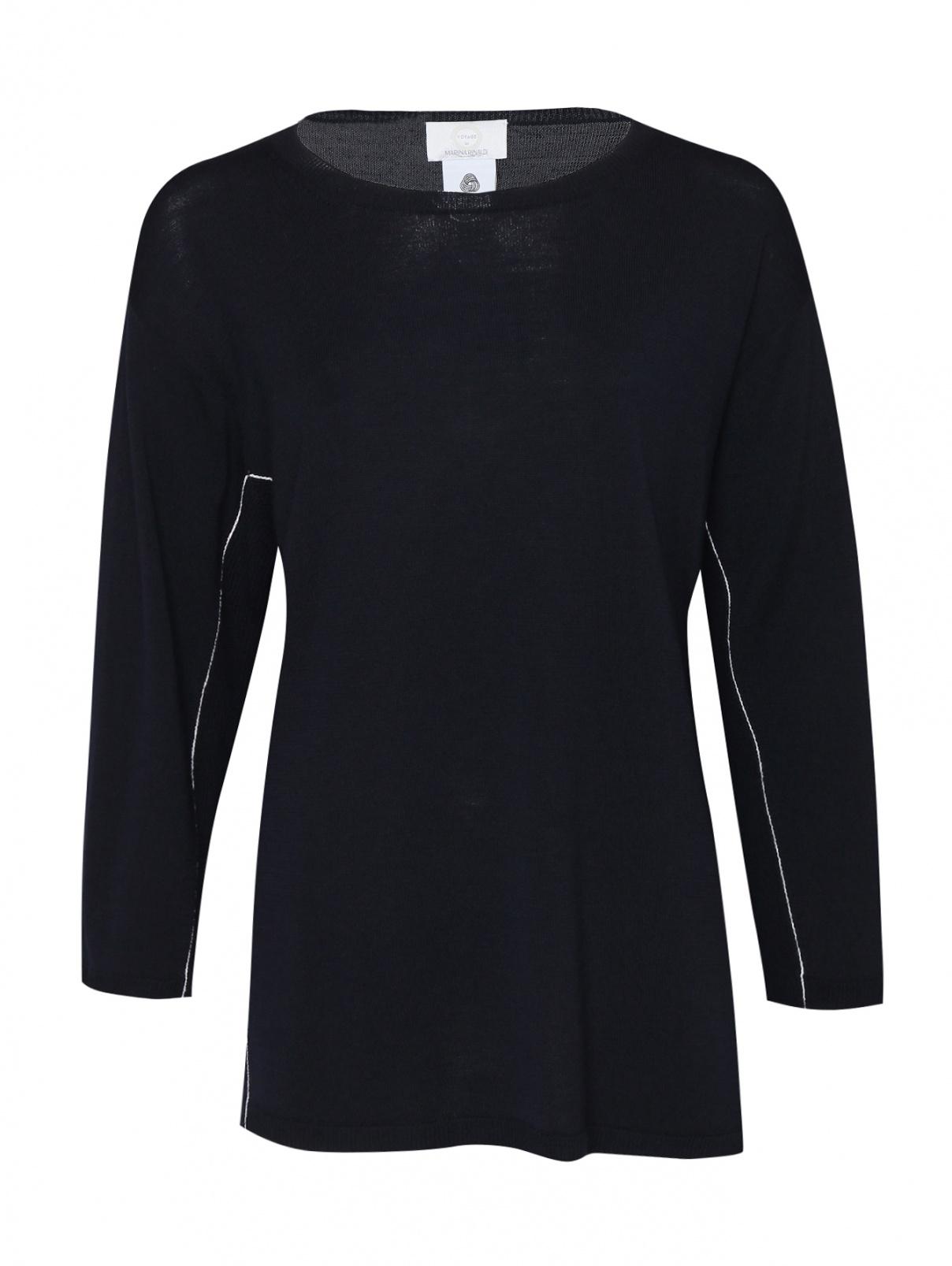 Джемпер из шерсти с контрастной отделкой Marina Rinaldi  –  Общий вид