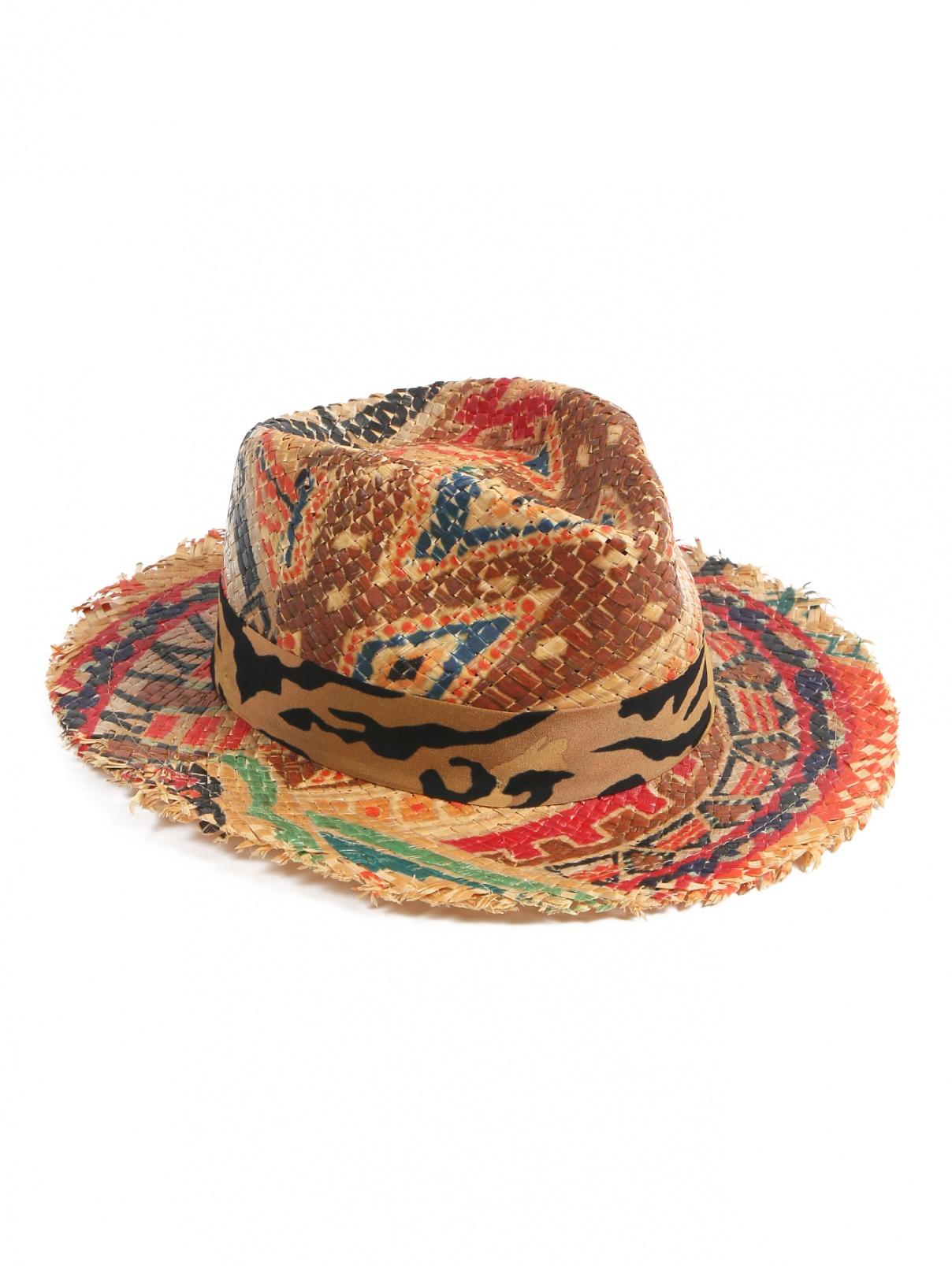 Соломенная шляпа с узором Etro  –  Общий вид