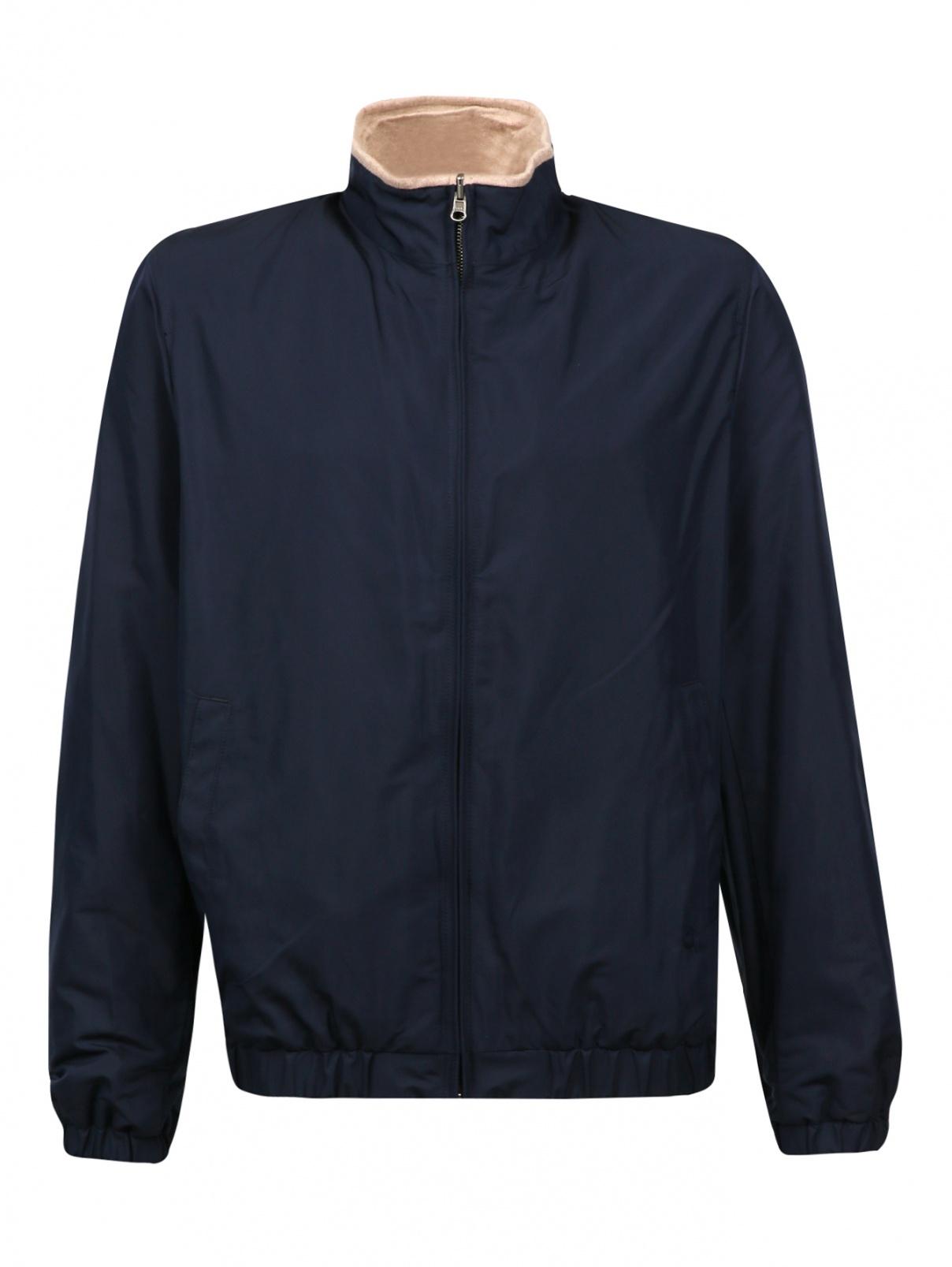 Куртка с контрастной вставкой на вороте Brooks Brothers  –  Общий вид