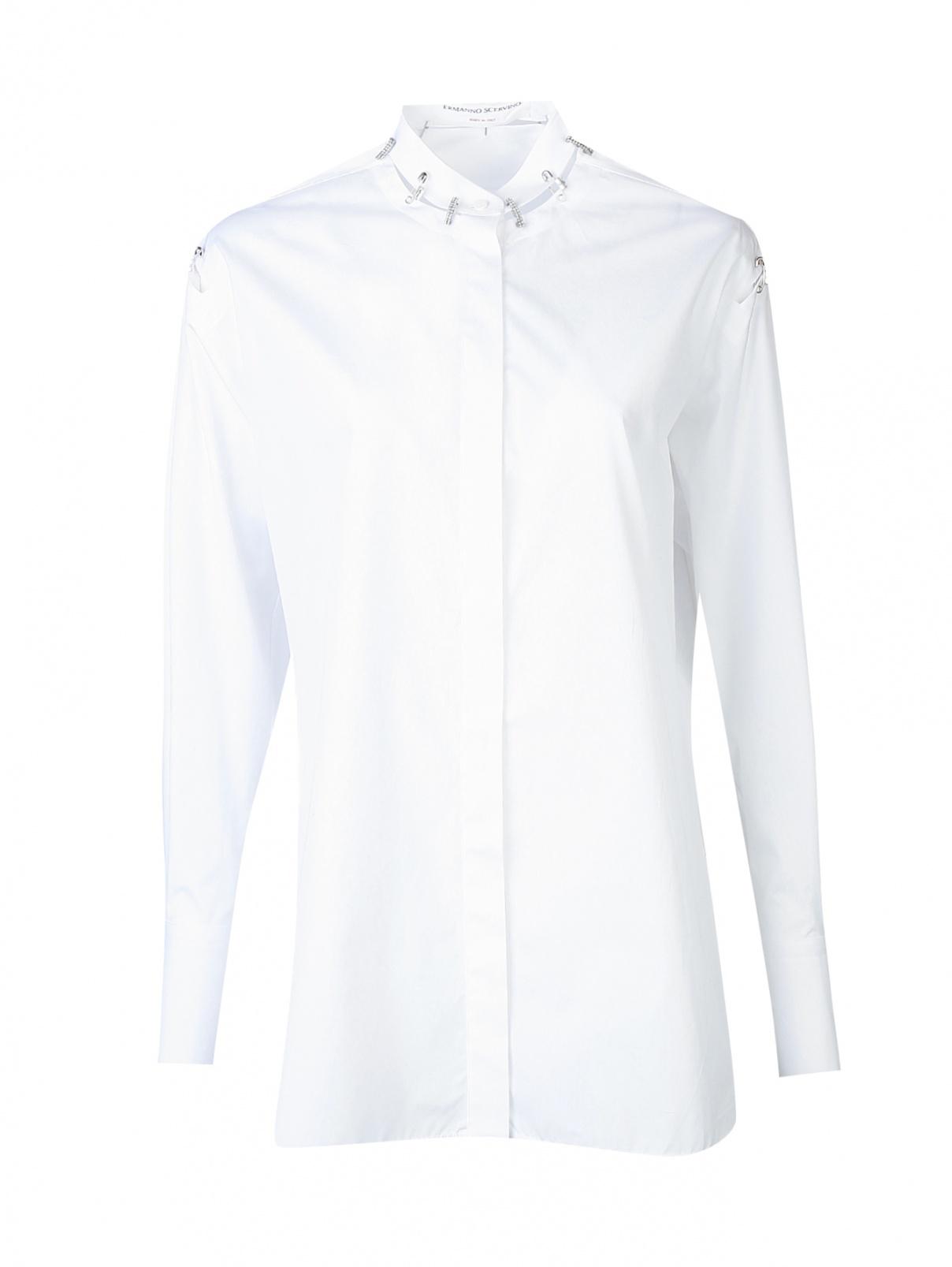 Рубашка из хлопка с декором Ermanno Scervino  –  Общий вид