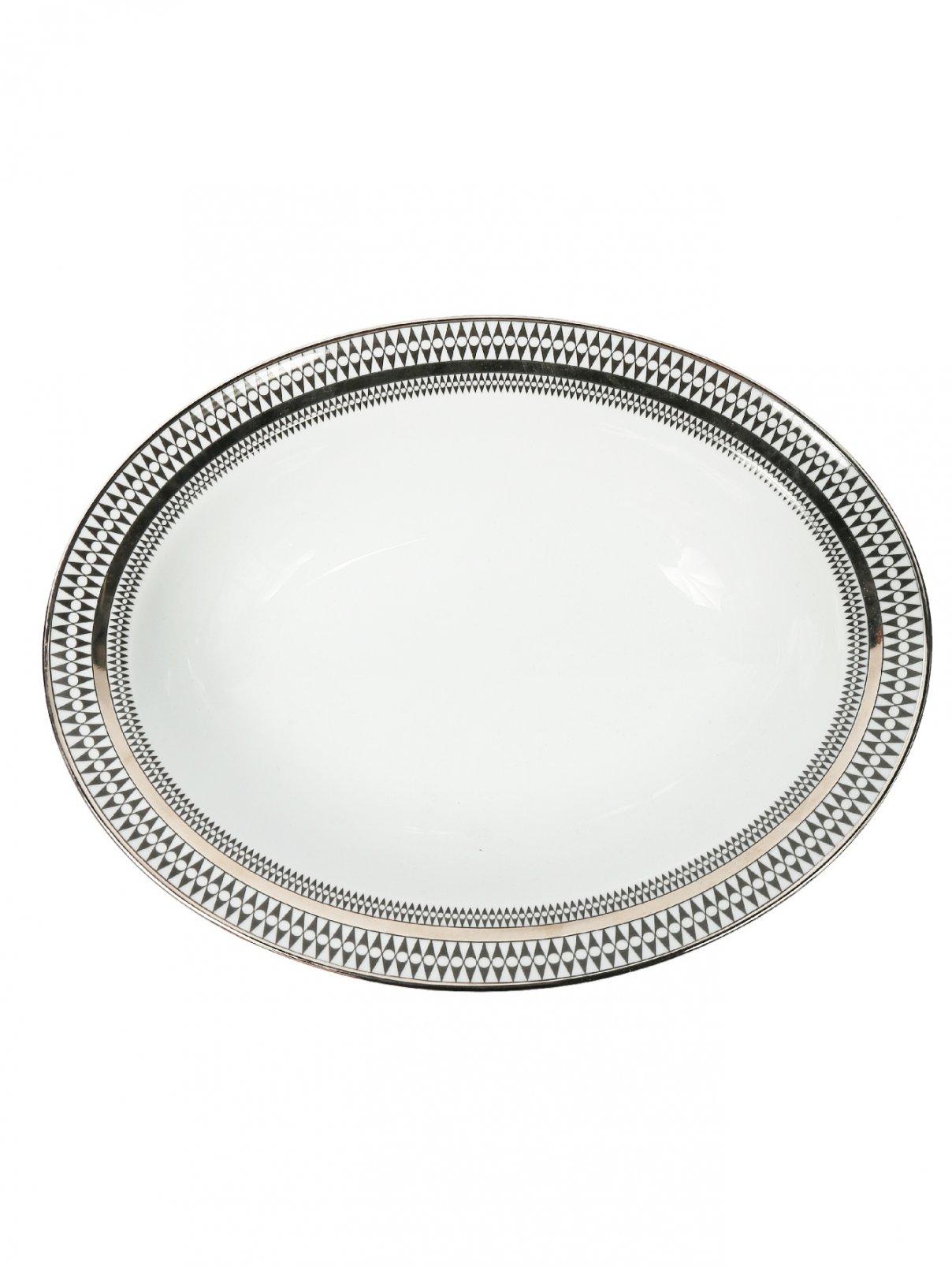 Блюдо овальное из фарфора с геометрическим орнаментом Haviland  –  Общий вид