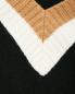 Джемпер из смешанной шерсти с контрастной отделкой Mo&Co  –  Деталь