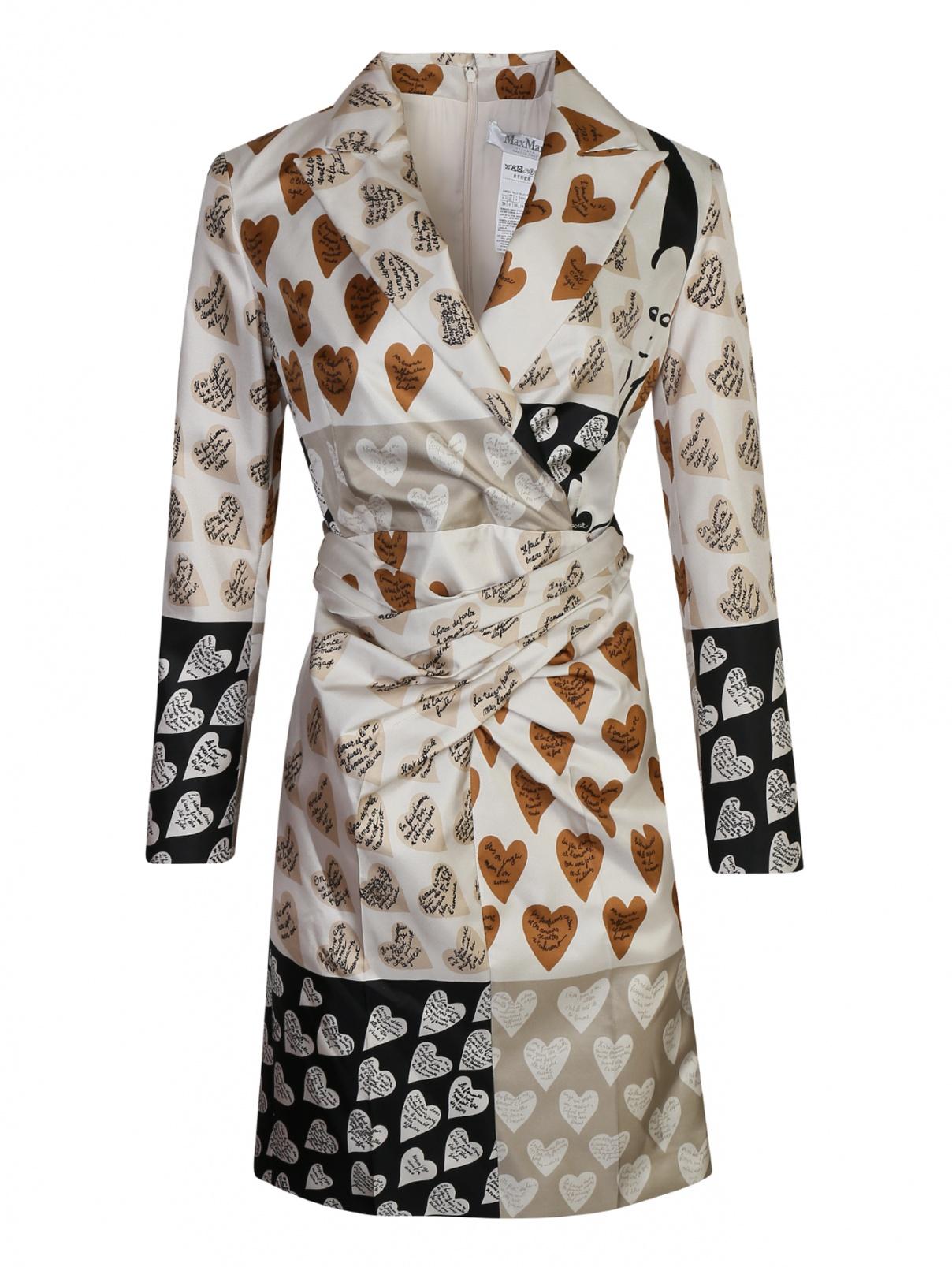 Платье шелковое с узором Max Mara  –  Общий вид