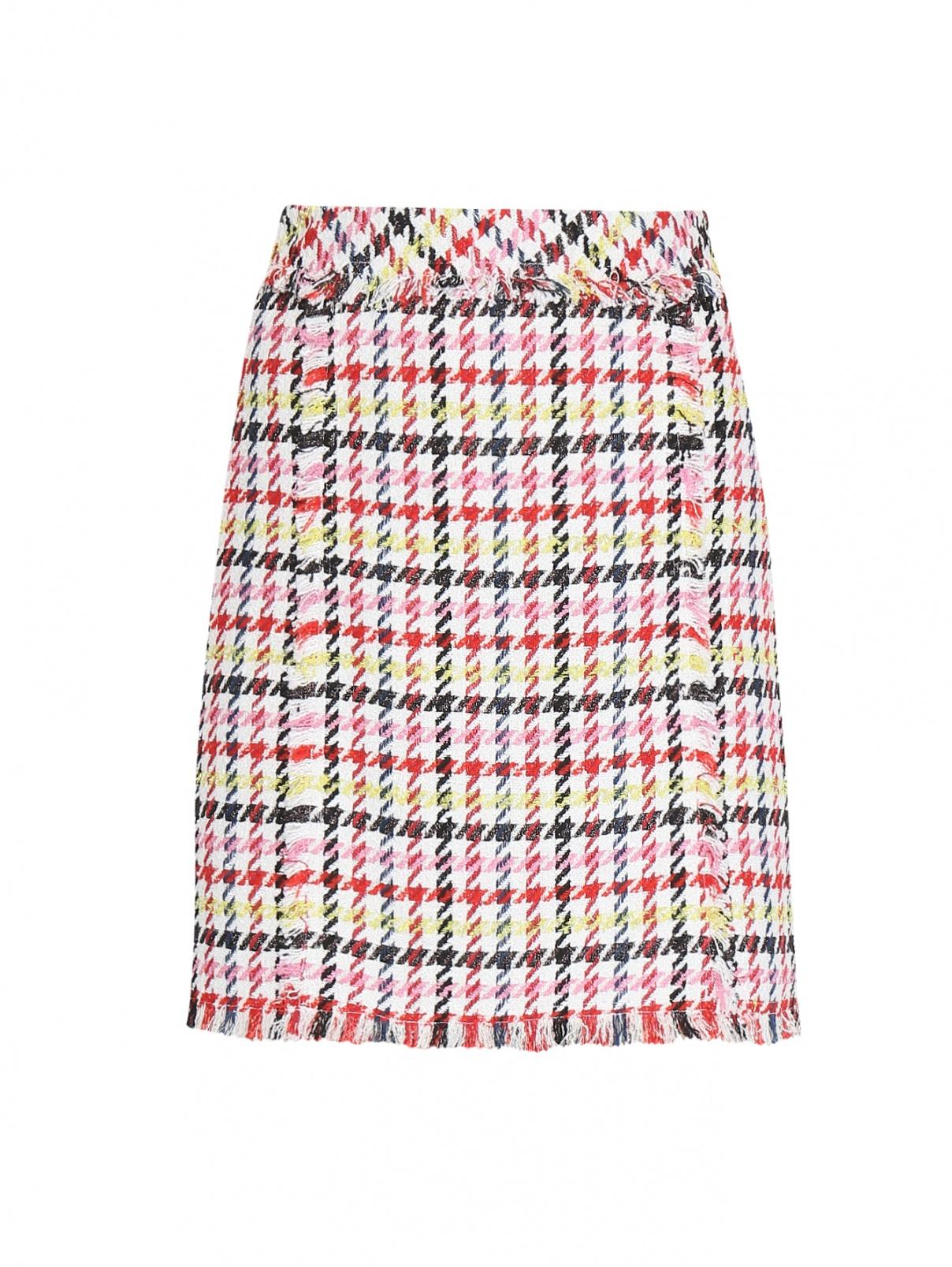 Юбка-мини с узором и бахромой Karl Lagerfeld  –  Общий вид