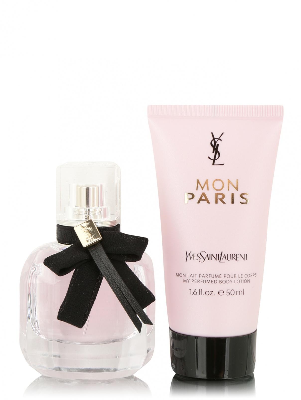 Набор парфюмерная вода + лосьон для тела Mon Paris YSL  –  Общий вид