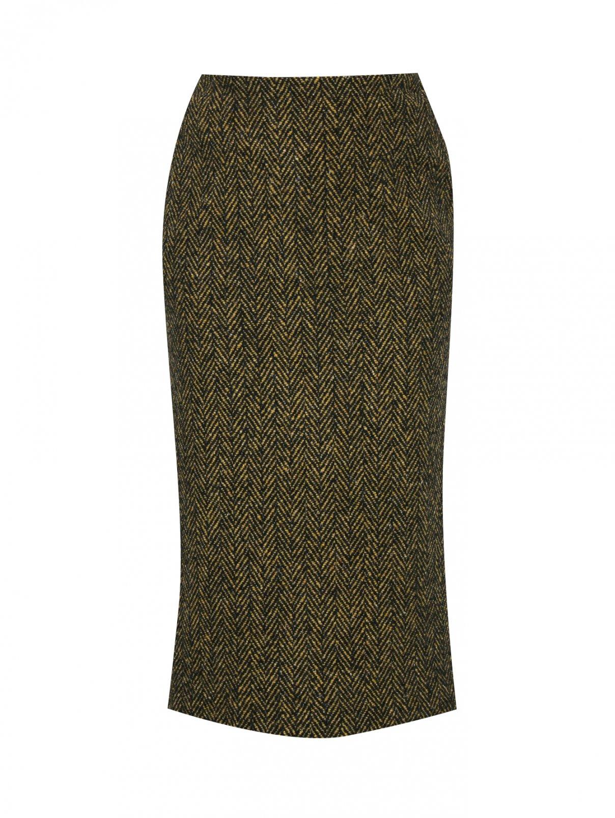 Юбка из шерсти и кашемира с узором Ermanno Scervino  –  Общий вид