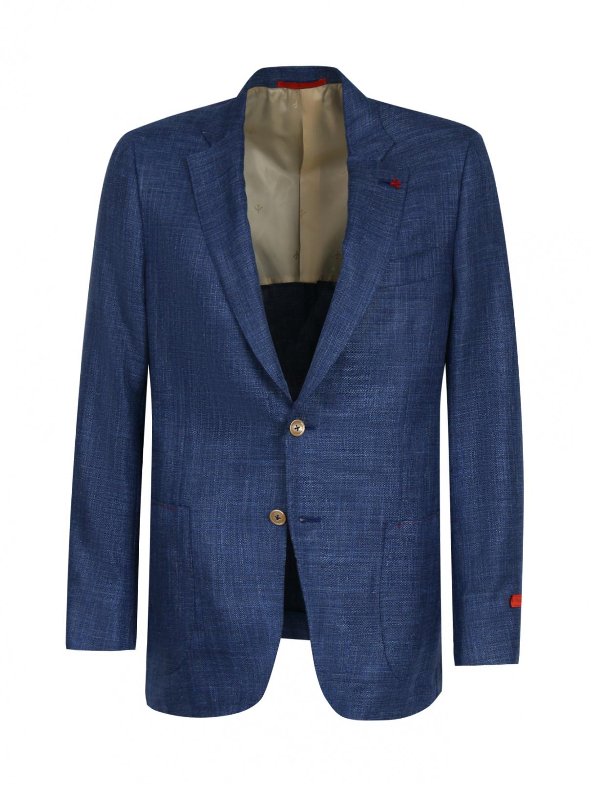 Пиджак из шерсти и шелка Isaia  –  Общий вид