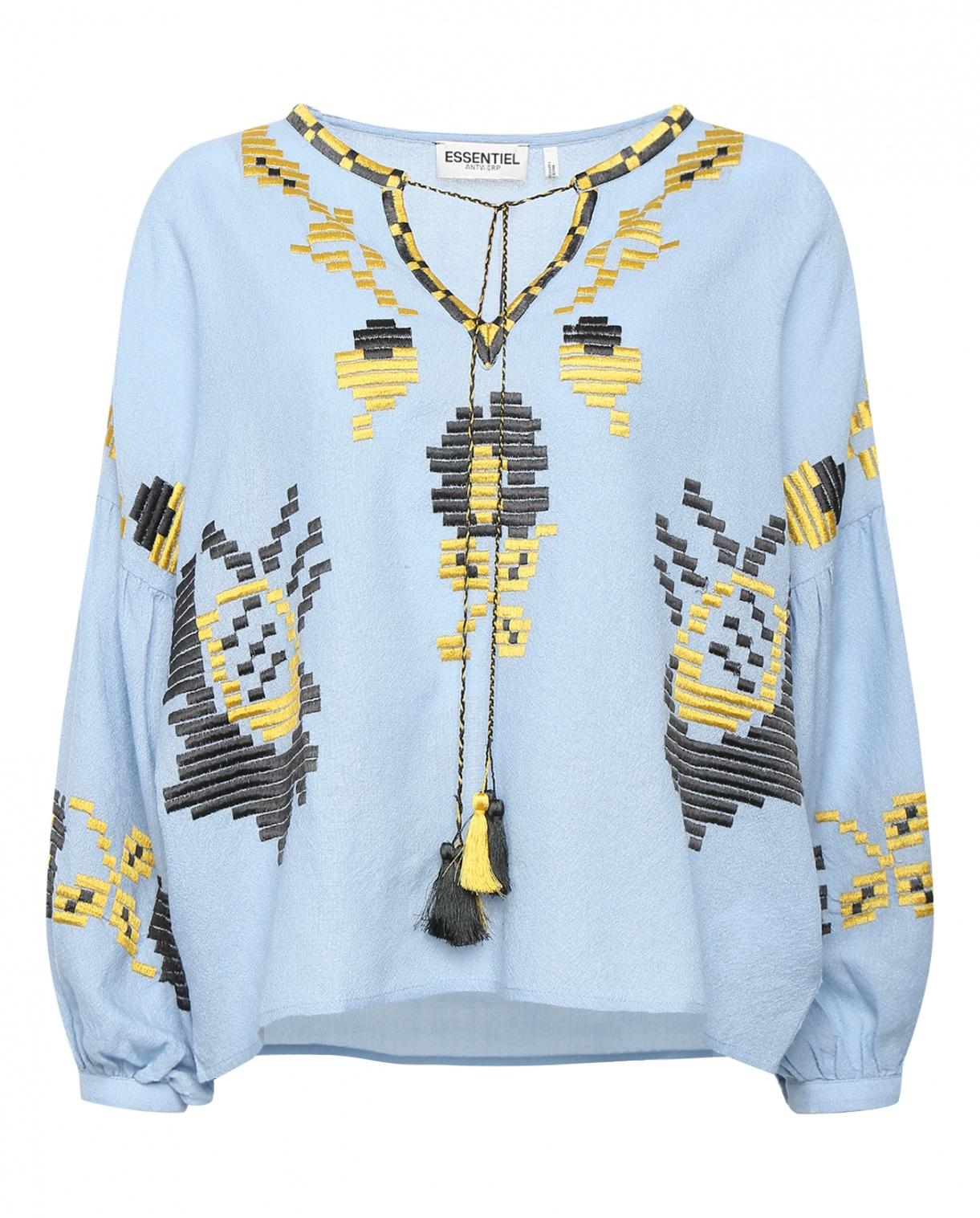 Блуза из шерсти декорированная вышивкой Essentiel Antwerp  –  Общий вид