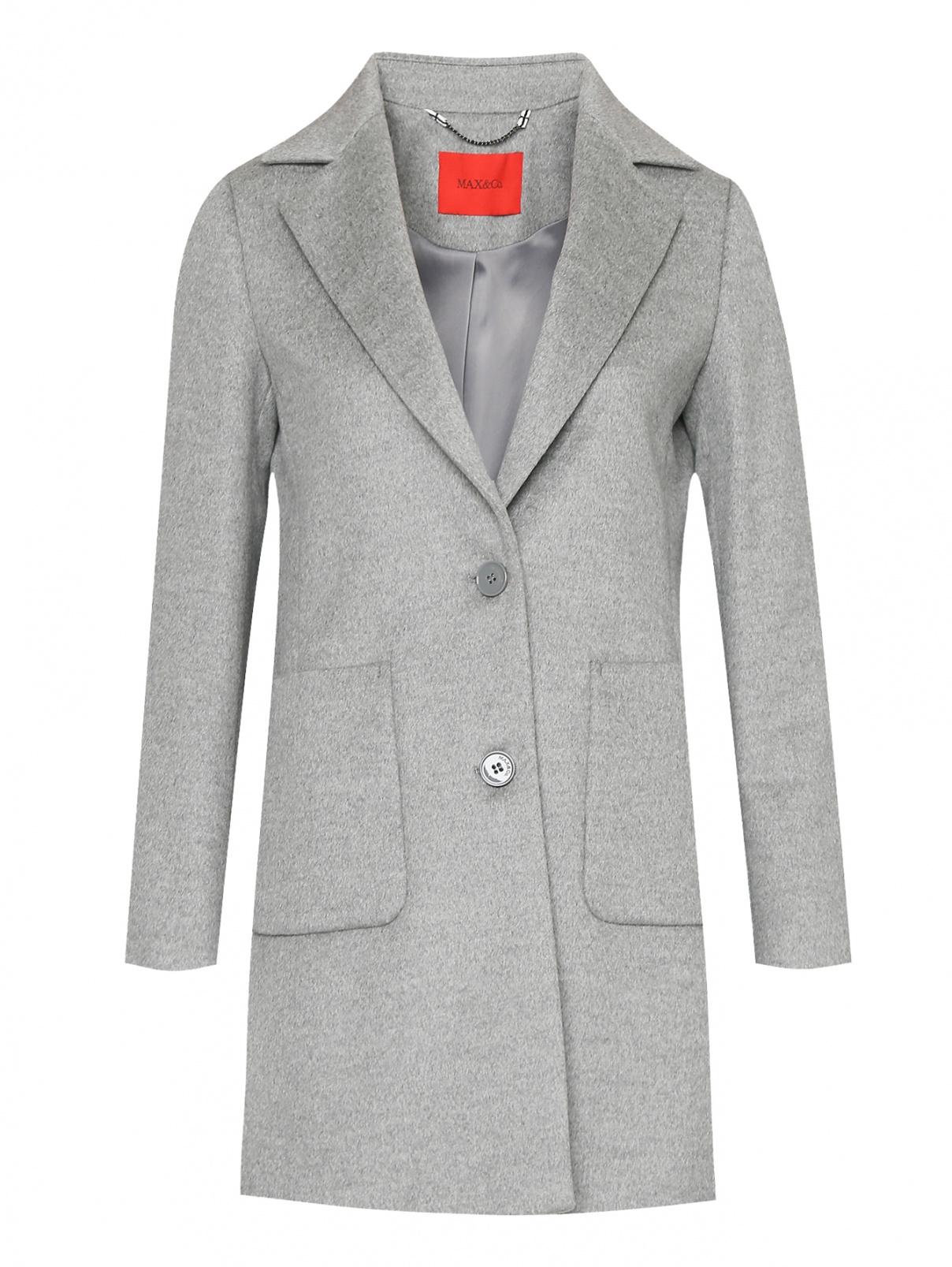 Пальто из шерсти с карманами Max&Co  –  Общий вид