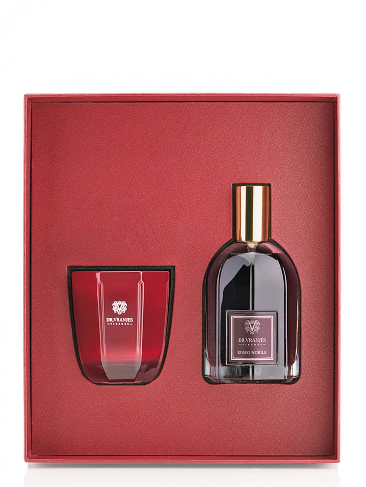Набор свеча 80 г и спрей 100 мл Rosso Nobile Home Fragrance Dr. Vranjes  –  Общий вид