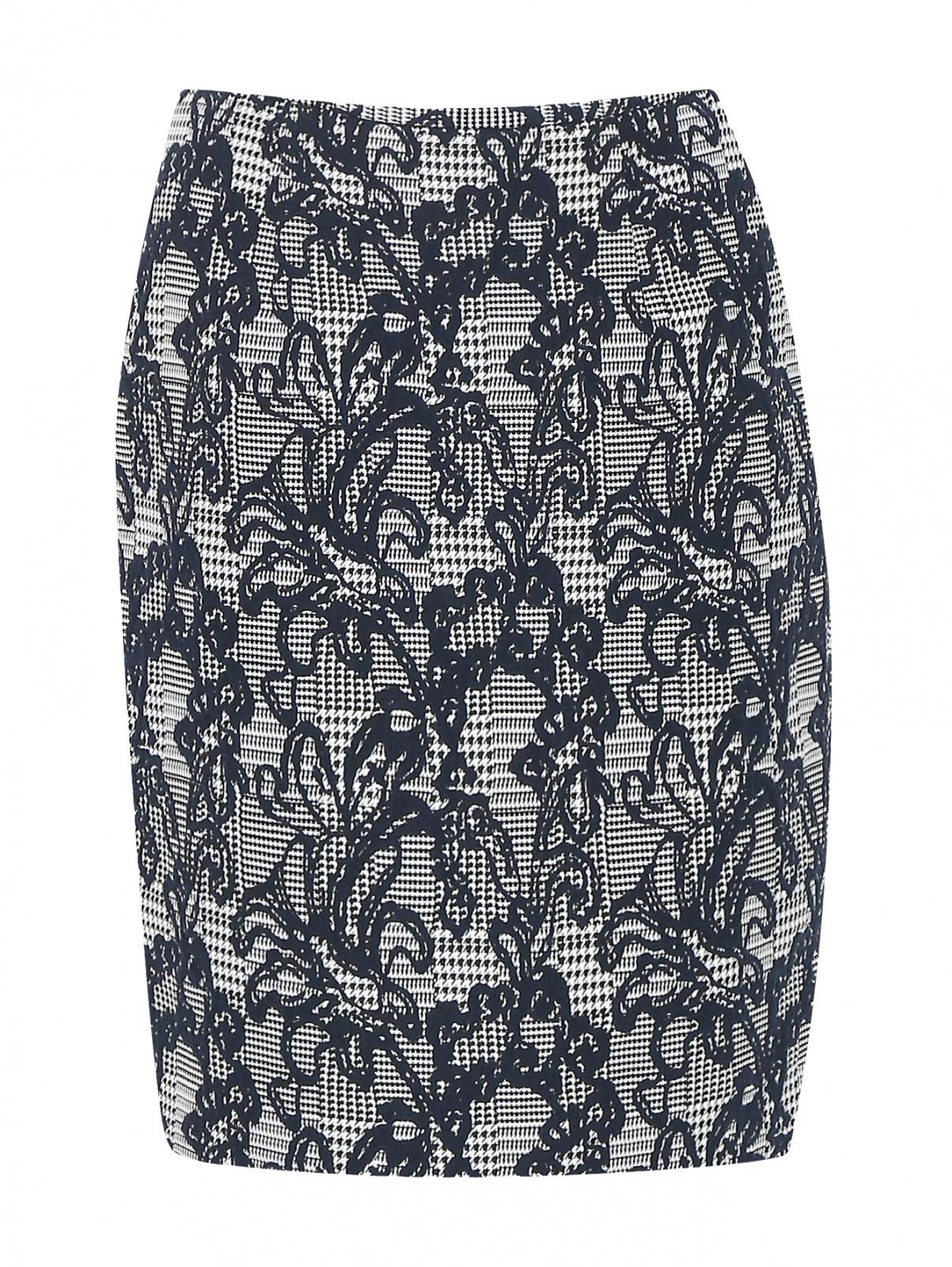 Юбка из фактурной ткани с узором Brooks Brothers  –  Общий вид