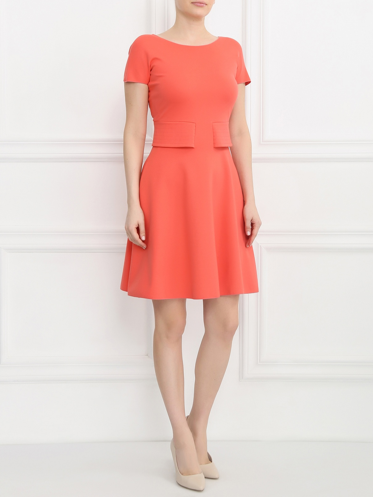 Платье-мини с короткими рукавами Armani Collezioni  –  Модель Общий вид