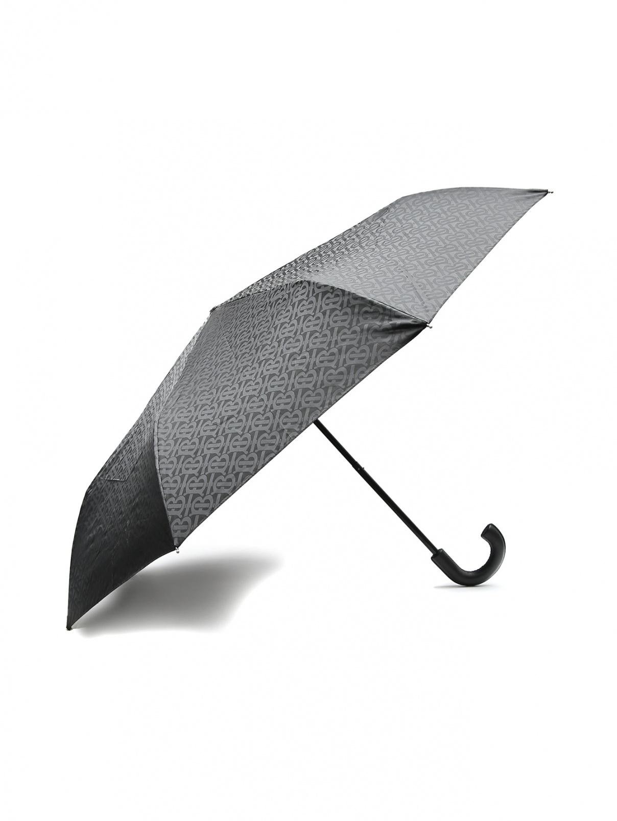 Зонт складной с кожаной ручкой Burberry  –  Общий вид