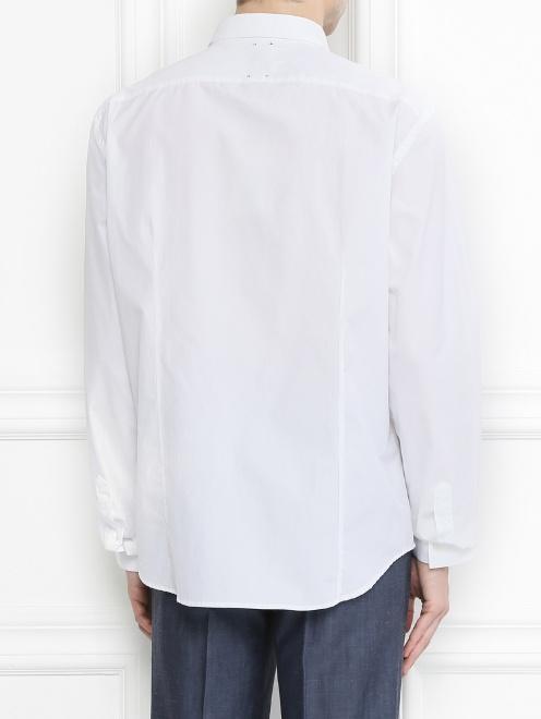 Рубашка из хлопка с узором - Модель Верх-Низ1
