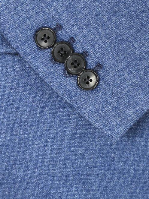Пиджак однобортный из кашемира - Деталь