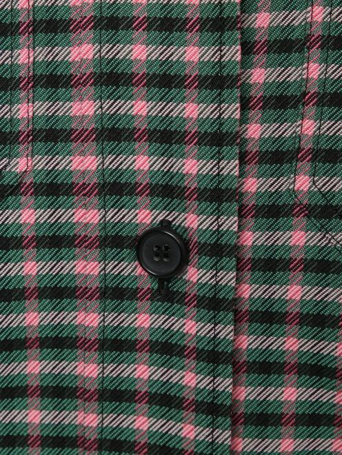Рубашка с узором клетка - Деталь1