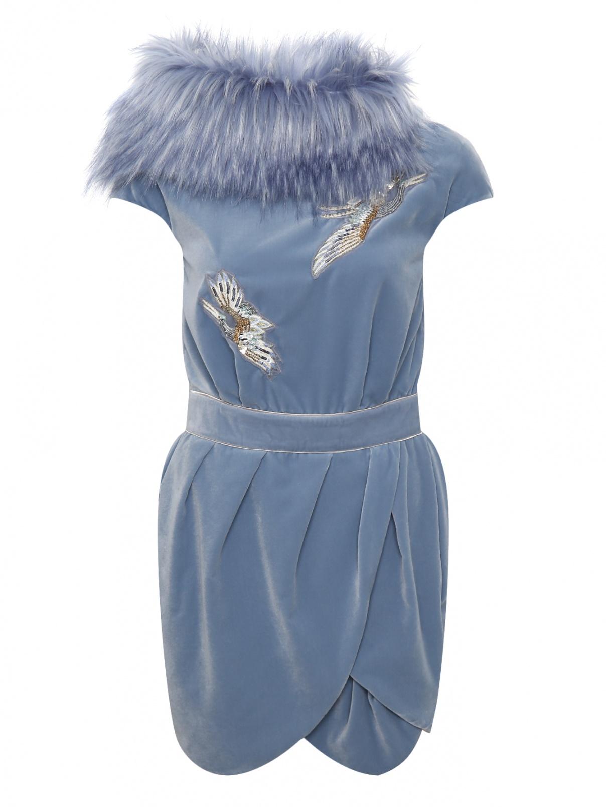 Платье-мини декорированное пайетками Elisabetta Franchi  –  Общий вид