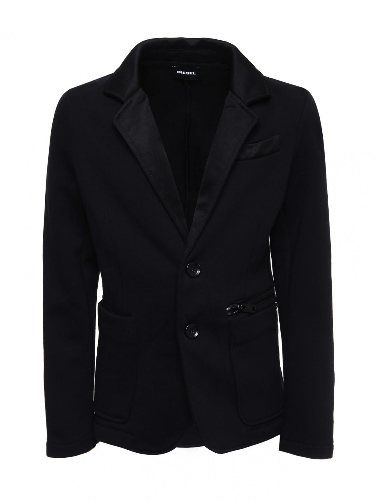 Пиджак трикотажный с накладными карманами Diesel  –  Общий вид