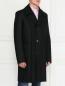 Пальто двубортное из шерсти Jean Paul Gaultier  –  Модель Верх-Низ