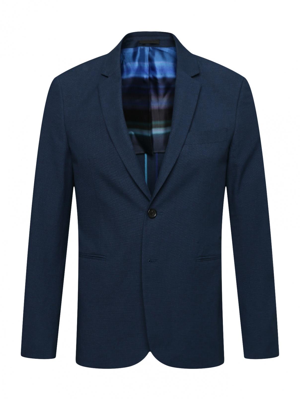 Однобортный пиджак из хлопка Paul Smith  –  Общий вид