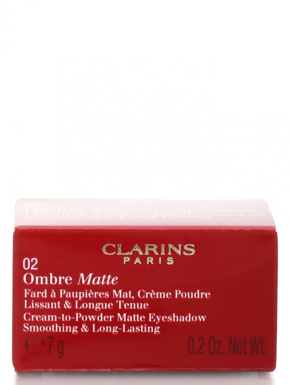 Бархатистые тени для век - №02 Nude pink, Ombre Matte Clarins  –  Модель Общий вид