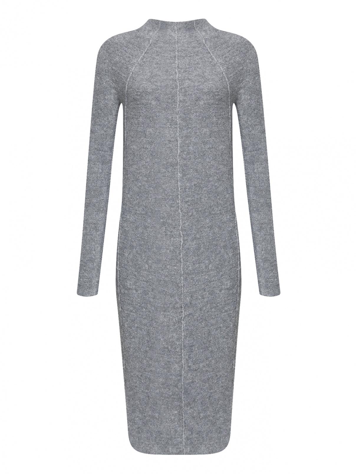 Платье-миди из кашемира шерсти и шелка Jil Sander  –  Общий вид