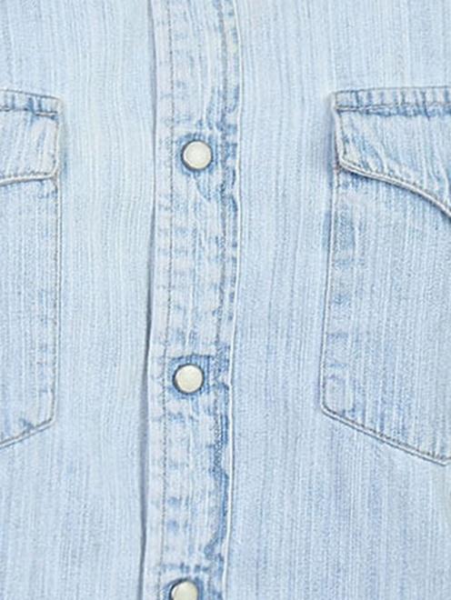 Рубашка из хлопка на кнопках - Деталь1