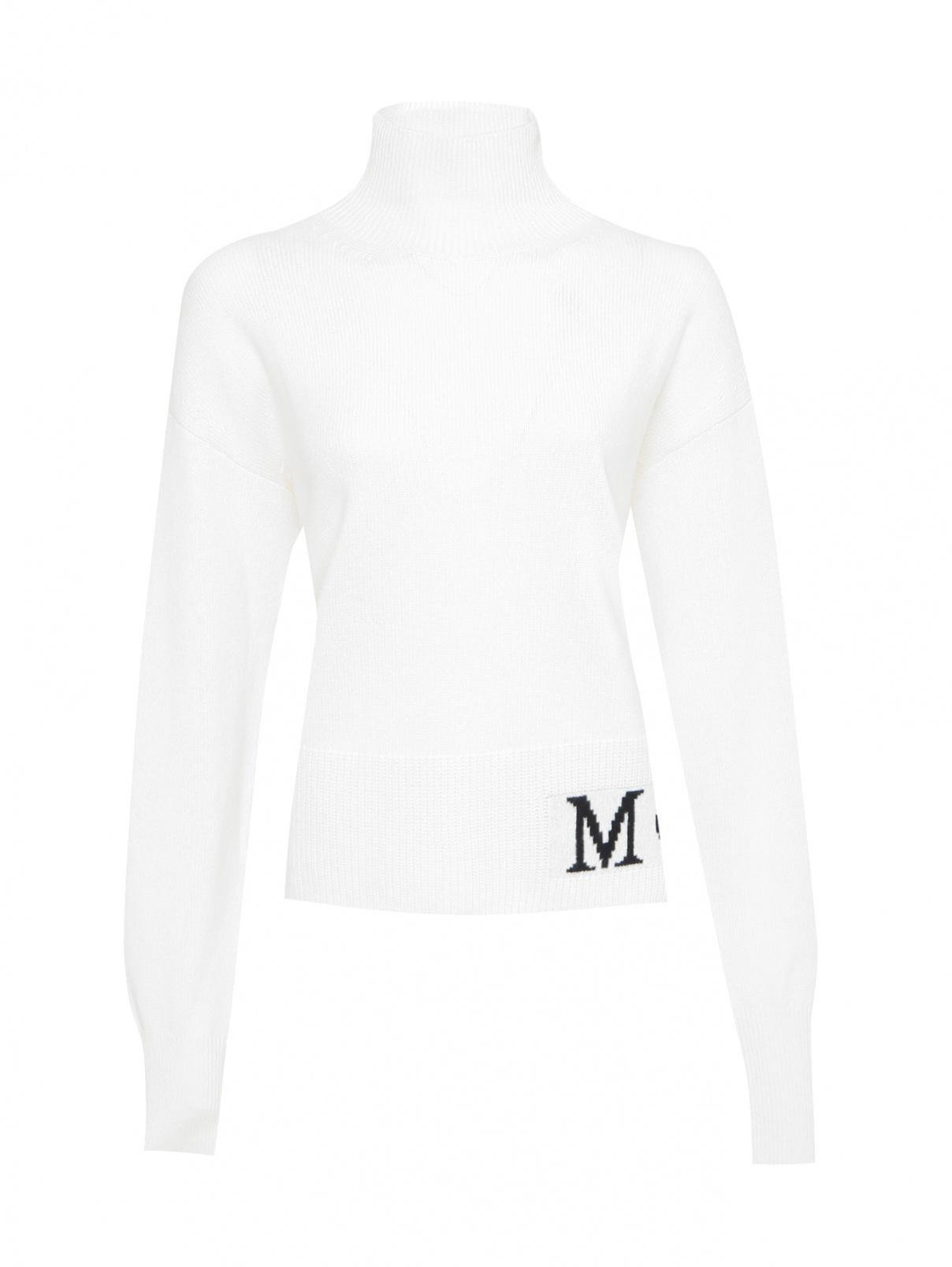 Джемпер из шерсти и кашемира с логотипом Moncler  –  Общий вид