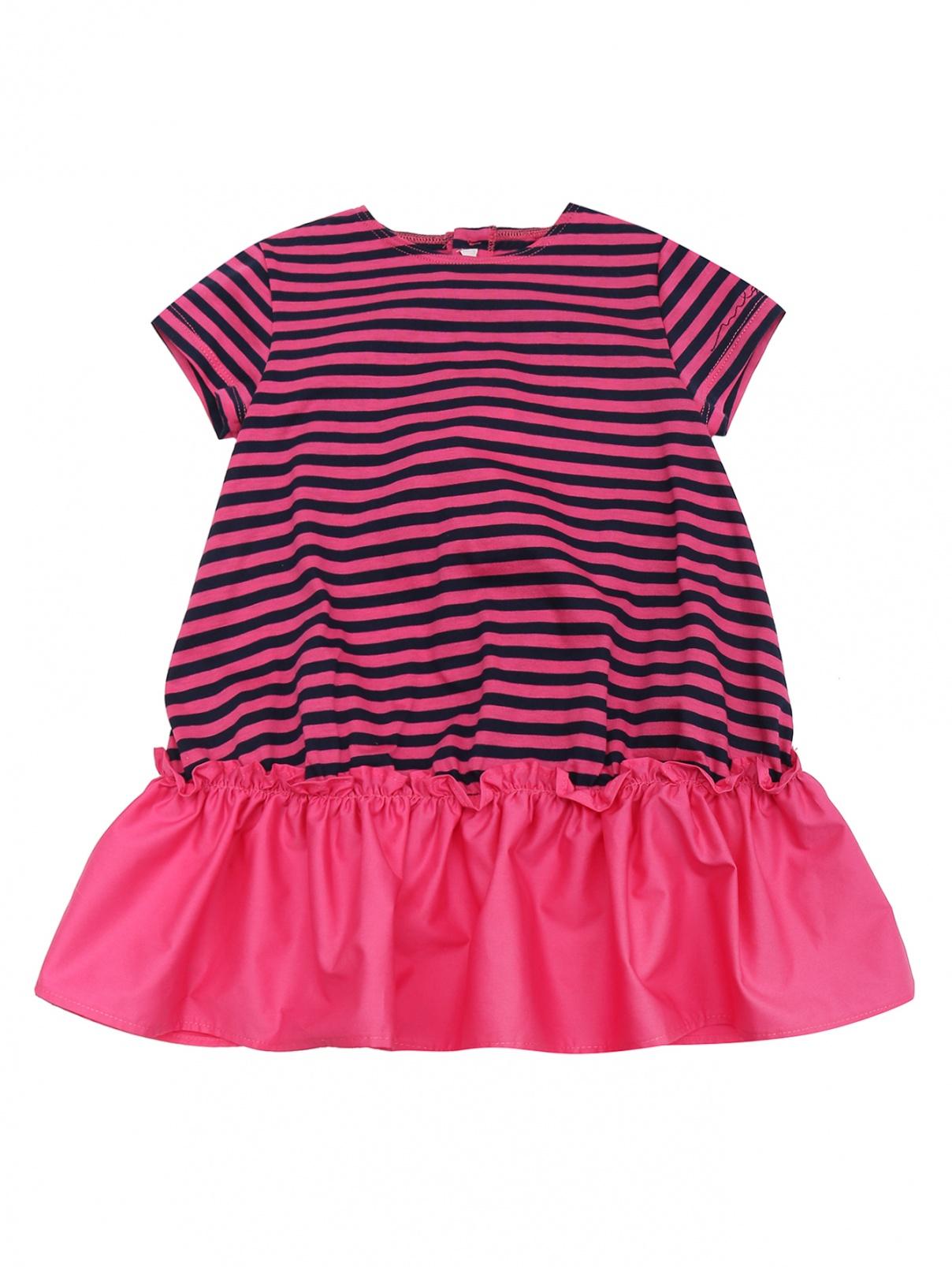 Платье трикотажное с оборкой Il Gufo  –  Общий вид