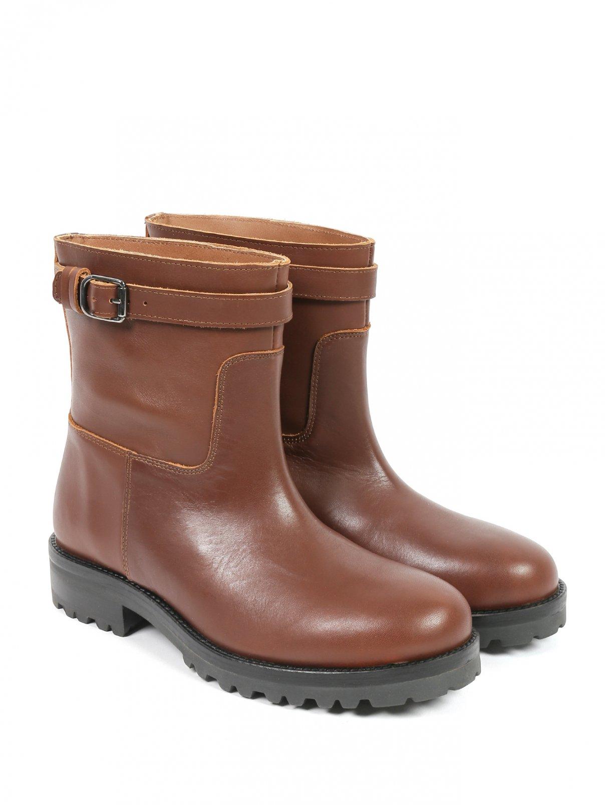 Ботинки из кожи Weekend Max Mara  –  Общий вид