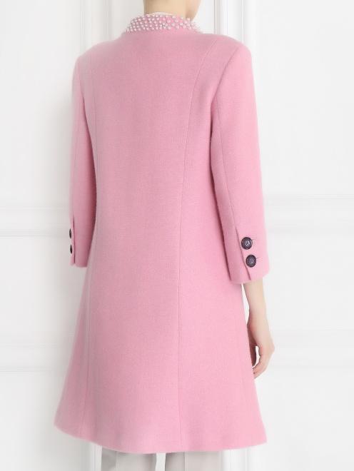 Пальто из шерсти с аппликаций из бусин - Модель Верх-Низ1