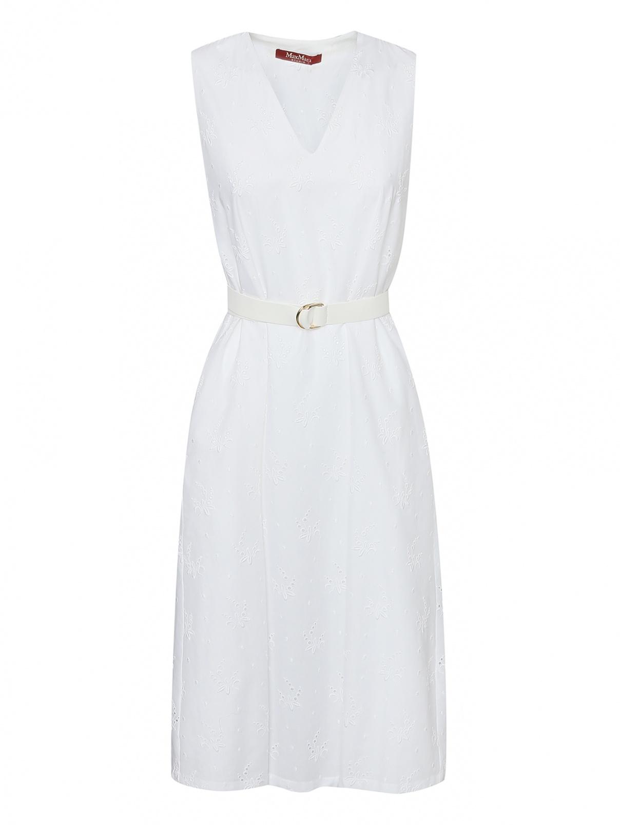 Платье из хлопка с вышивкой Max Mara  –  Общий вид
