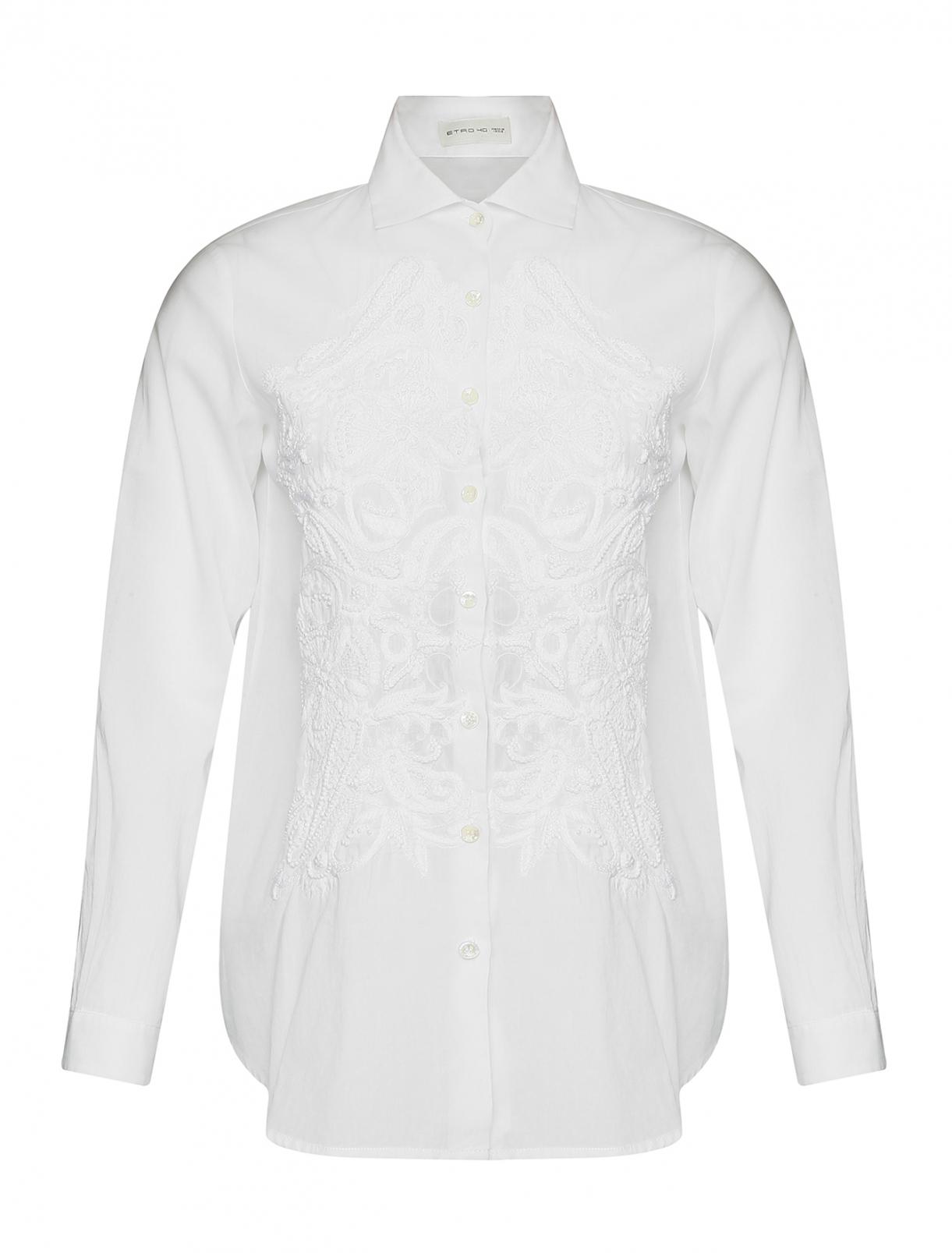 Рубашка хлопковая с вышивкой Etro  –  Общий вид