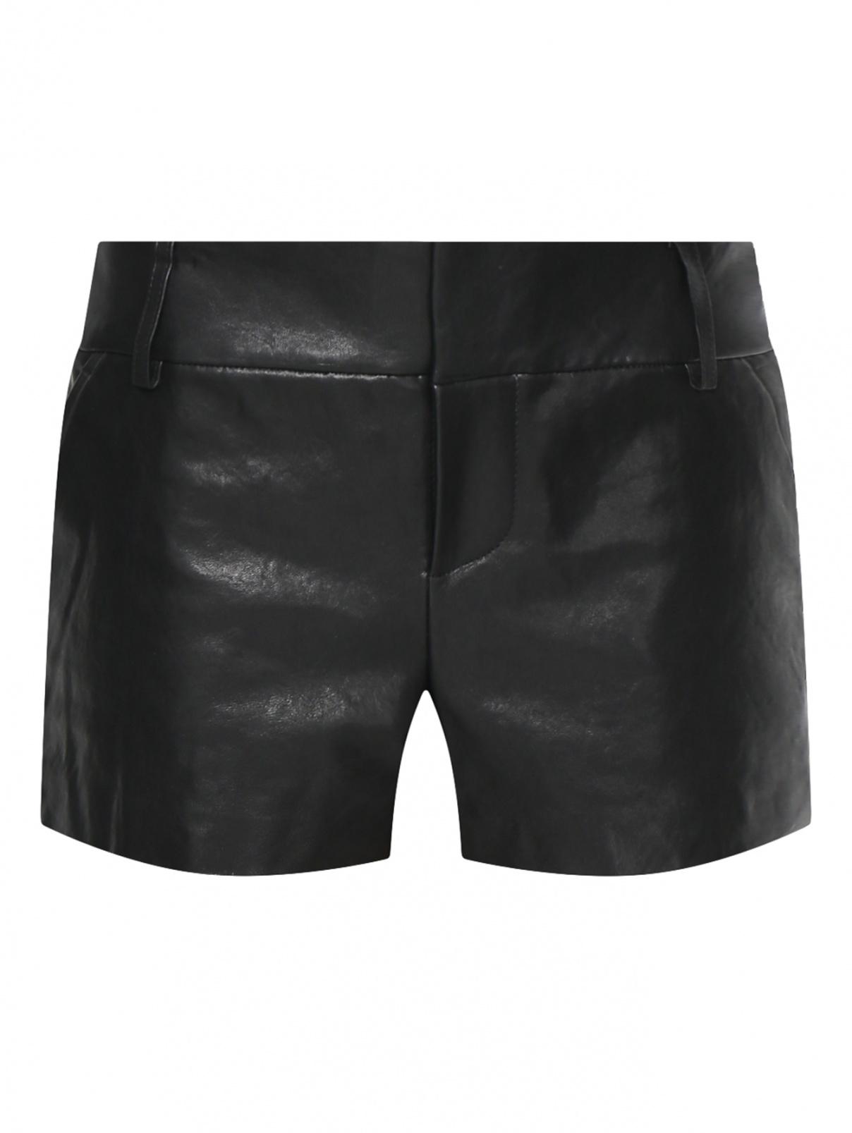 Короткие шорты из кожи Alice+Olivia  –  Общий вид