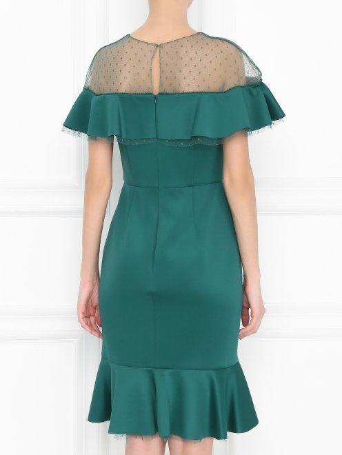Платье-футляр с полупрозрачной вставкой - МодельВерхНиз1