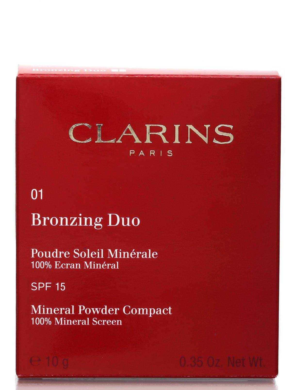 Двухцветная компактная минеральная пудра - №01, Bronzing Duo Clarins  –  Модель Общий вид